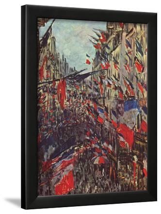 Claude Monet (Paris, Rue Saint-Denis, Celebration of National Day) Art Poster Print