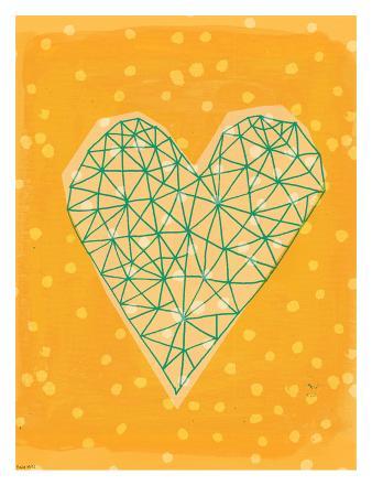Geometric Heart In Yellow