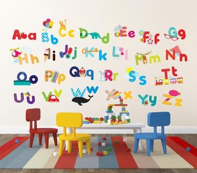 whimsical alphabet wall decal at allposters