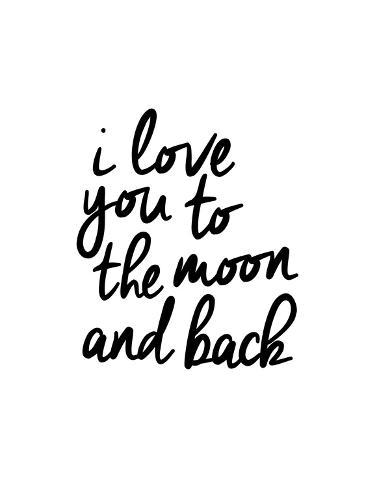 I Love You To The Moon And Back Prints By Brett Wilson At Allposters Com