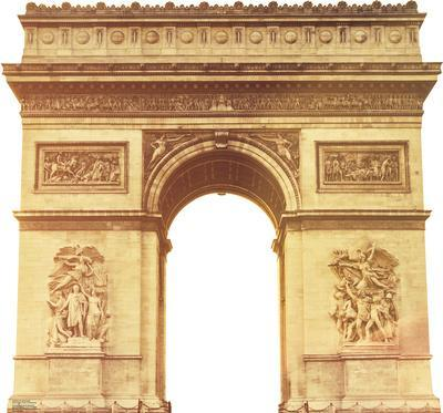 Paris Arc de Triomphe Lifesize Standup