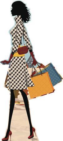 Paris Shopper Lifesize Standup