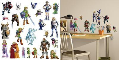 Zelda: Ocarina of Time 3D Peel and Stick Wall Decals