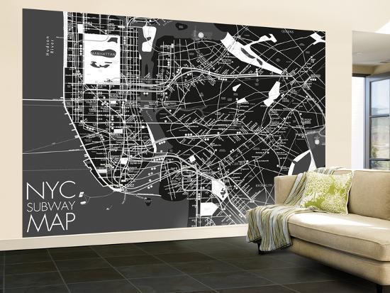 Nyc Subway Map Wallpaper Mural Wallpaper Mural At