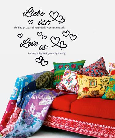 Love Is - Liebe ist Wall Decal