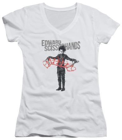 Juniors: Edward Scissorhands - Show & Tell V-Neck