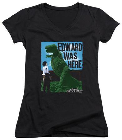 Juniors: Edward Scissorhands - Edward Was Here V-Neck