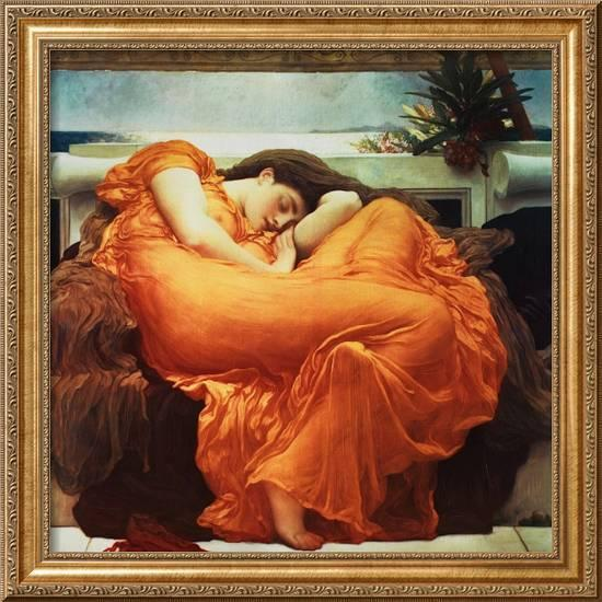 Flaming June Framed Giclee Print By Frederick Leighton At