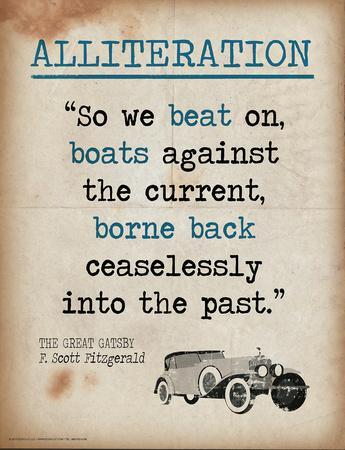 Alliteration (Quote from The Great Gatsby by F. Scott Fitzgerald)