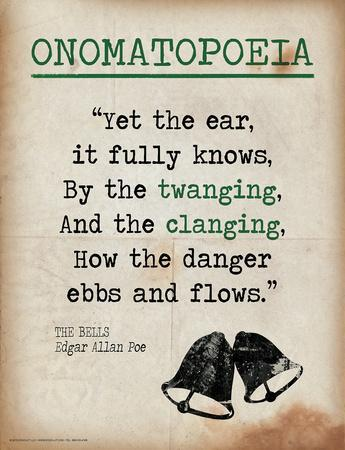 Onomatopoeia (Quote from The Bells by Edgar Allan Poe)