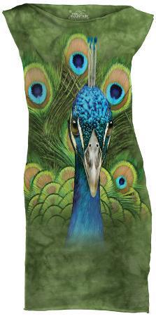 Mini Dress: Vibrant Peacock