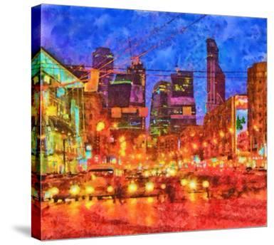Digital Render-Night Cityscape