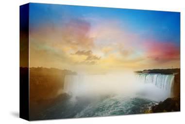 Colorful Niagara Falls Sunset