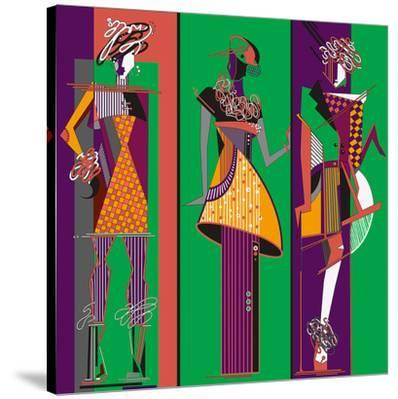 Fashion Sketches-Green Purple