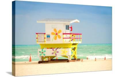 Lifeguard tower in Miami Beach