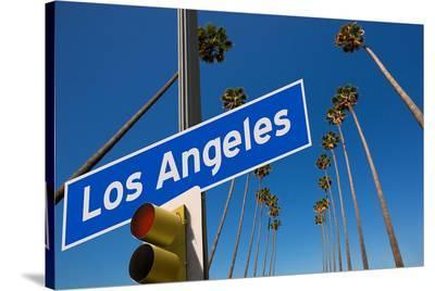 Los Angeles CA Road Sign