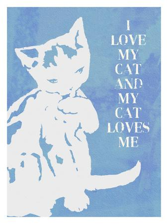 Love My Cat (Blue