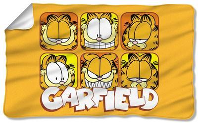 Garfield Faces Fleece Blanket Fleece Blanket Allposters Com