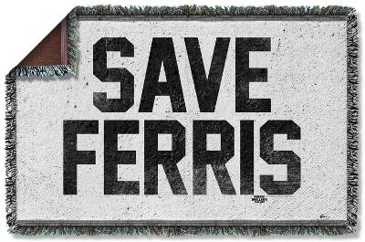 Ferris Bueller - Save Ferris Woven Throw
