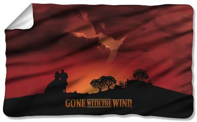 Gone With The Wind - Sunset Fleece Blanket