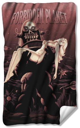 Forbidden Planet - Poster Fleece Blanket
