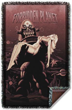 Forbidden Planet - Poster Woven Throw