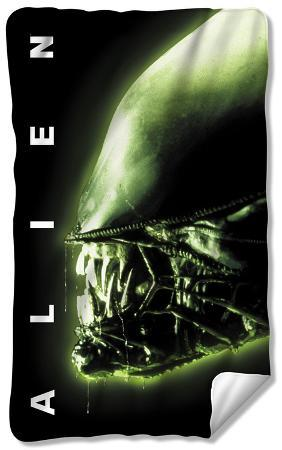 Alien - Head Fleece Blanket