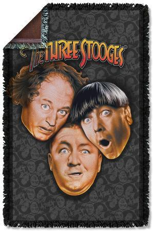 Three Stooges - Stooges All Over Woven Throw