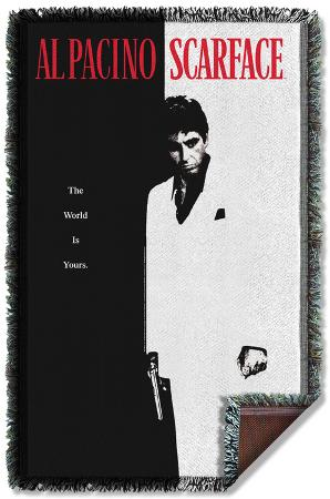 Scarface - Poster Woven Throw