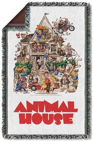 Animal House - Poster Woven Throw