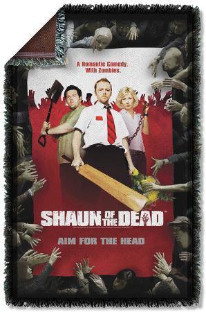 Shaun Of The Dead - Poster Woven Throw