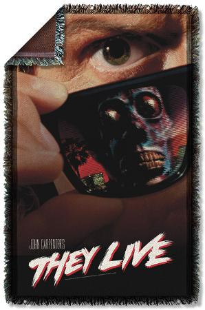 They Live - Poster Woven Throw