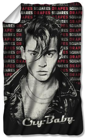 Cry Baby - Drapes & Squares Fleece Blanket