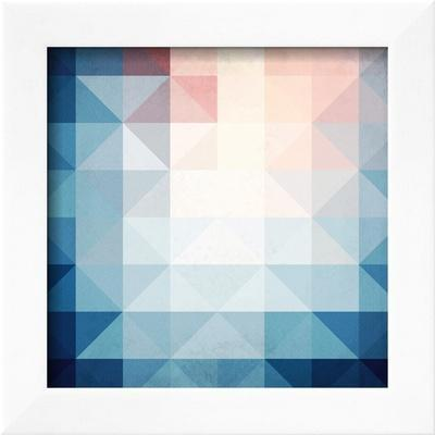 Abstract Blue Triangles Geometry