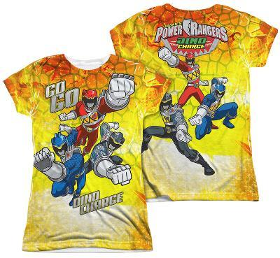 Juniors: Power Rangers - Go Go Dino Charge (Front - Back Print)