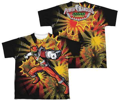 Youth: Power Rangers - Red Ranger Burst (Front - Back Print)
