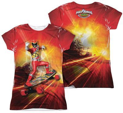 Juniors: Power Rangers - Skater (Front - Back Print)