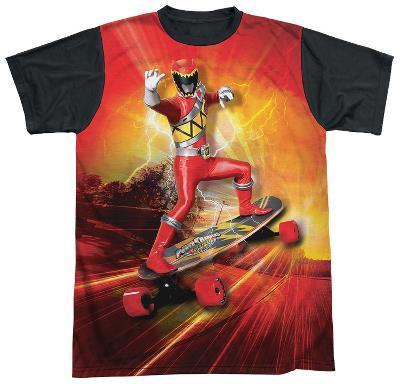 Power Rangers - Skater Black Back