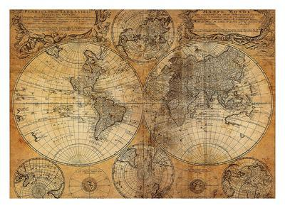 Vintage Map Prints At Allposters Com