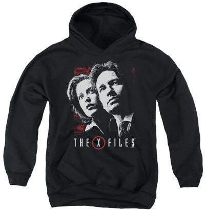 Youth Hoodie: X Files - Mulder & Scully