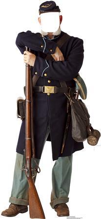 Civil War Union Soldier Stand In