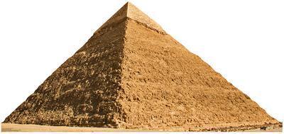 Egypt, Giza, Pyramid of Chephren Standup