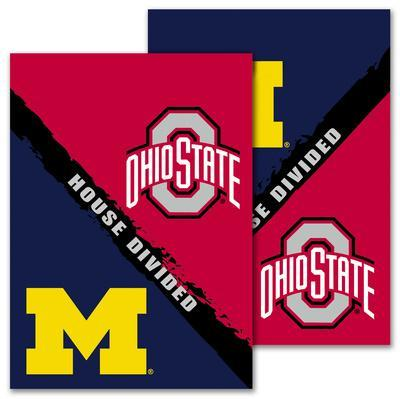 NCAA Michigan - Ohio St. 2-Sided House Divided Rivalry Garden Flag