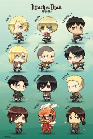 Attack On Titan Chibi Characters