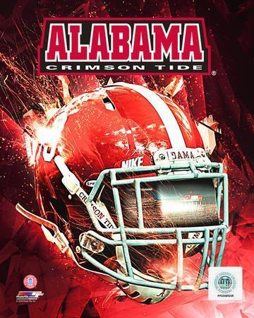 University of Alabama Crimson Tide Helmet Composite