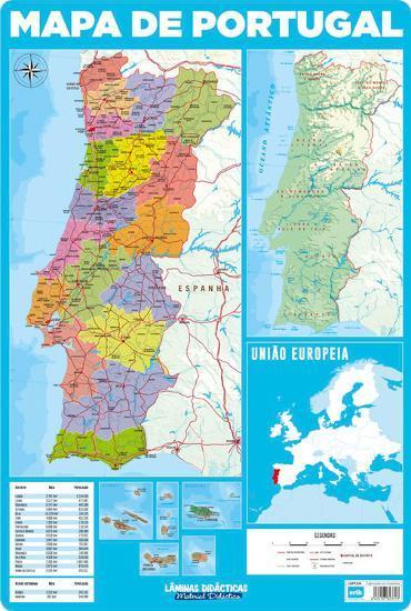Mapa De Portugal Poster At Allposters Com