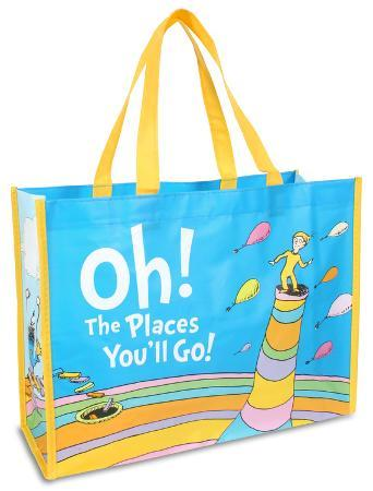 Dr. Seuss Oh the Places Large Recycled Shopper