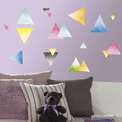 Watercolor Triangle Peel and Stick Wall Decals