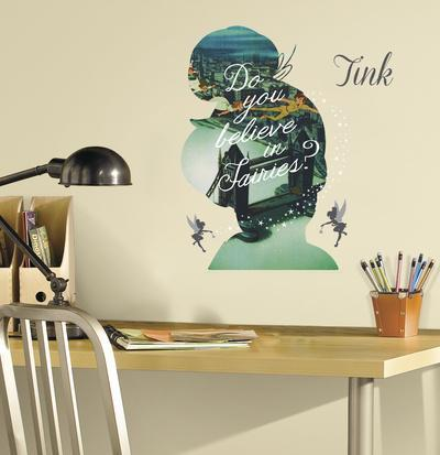 Tinker Bell Silhouette Mega Peel and Stick Giant Wall Graphix