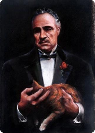 Godfather and Cat Portrait